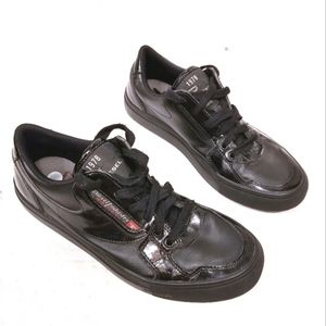 Diesel Patent Leather Clawster Low Sneakers
